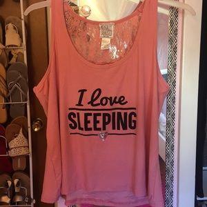I Love Sleeping Pj Tanktop